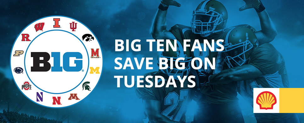 Big Ten fans save big on Tuesdays